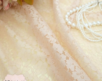 Cream Lace Fabric Cream Lace For Handmade Floral Lace Wedding Cream Lace Bridesmaid Lace Cream Lace For Making Clothes Craft