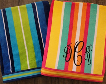 Personalized Beach Towel-Oversized Beach Towel-Monogrammed Beach Towel