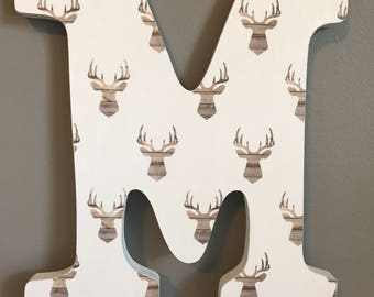 Wood Letters - Deer Antlers - Hunting -Outdoors - Wall Decor