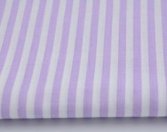 100% cotton fabric piece 160 x 50 cm, textile printing, 100% cotton striped purple 5mm