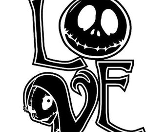 Nightmare Before Christmas Love Decal
