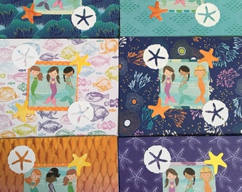 3 Little Mermaids Blank Notecards 6 ct