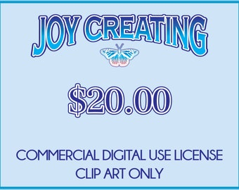 Commercial Digital Use License: Clip Art Only