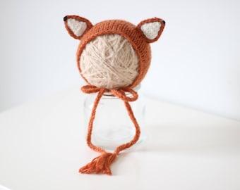 Newborn fox– Baby props – Newborn girl – Photo props – Baby girl fox – Newborn hat – Newborn props – Baby girl props - Fox hat - Ears hat
