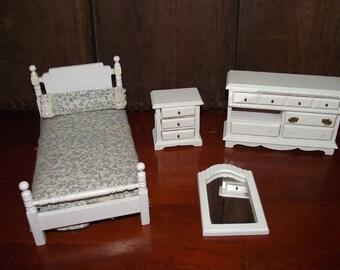 Vintage Doll Furniture Bedroom
