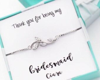 Wedding Bracelet Bridesmaid Bracelet Platinum plated Zirconia Bracelet Zirconia Bracelet Wedding Jewelry Bridal Bracelet Bridal Jewelry Dela