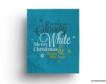 Snowy Christmas printable art - Christmas decor, wall art - 60% OFF