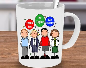 Fab Teacher Mug, teacher Mug, end of term mug, teachers gift, personalised mug, personalized mug, school mug, custom mug, unique mug,
