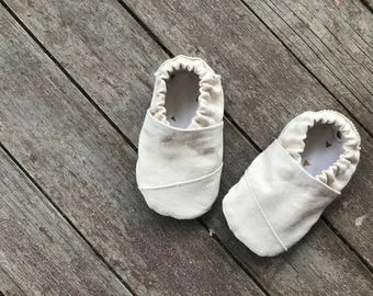 Natural Cotton Toms Inspired Soft Sole Baby Shoe