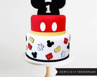 Mickey cake topper Etsy