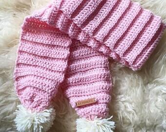 Crochet 1-3yr old scarf - CUSTOM COLOUR