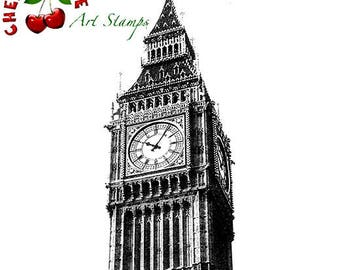 BIG BEN - London UK- CLiNG RuBBer STaMP for acrylic block R505