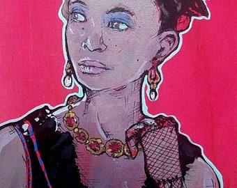 Westworld Maeve Millay - matted giclee art print