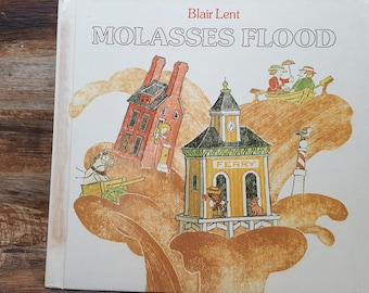 Molasses Flood, 1992, Blair Lent, vintage kids book