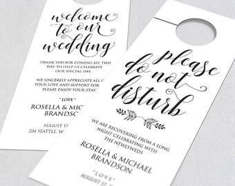 Wedding Door Hanger Door Hanger Printable Door Hanger