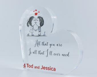 Personalized Heart, Wedding Gift for Couple,  Save the date, Personalized Wedding Gift, Custom Heart, Love couple, Love quotes