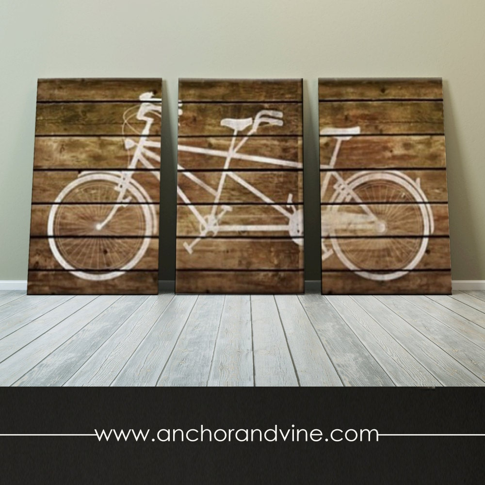 Canvas wall decor floor and decorations catalogue floor and canvas tandem bike on brown wood oversized canvas art zoom shiifo teraionfo