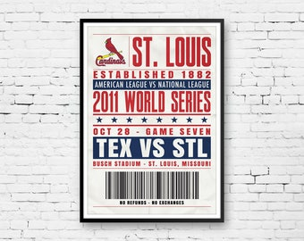 St. Louis Cardinals, World Series Art, Cardinals Poster, World Series Poster, Cardinals Fan Art