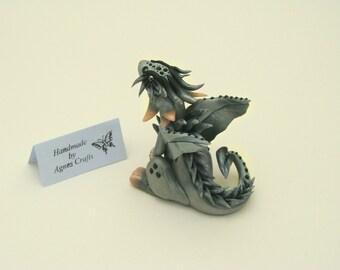 Dragon Sculpture / Dragon Figurine / Polymer Clay Dragon / Dragon Gift / Dragon Decor / Fantasy Sculpture / Collectible / Magical Creation