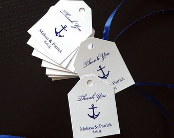 Mini Anchors Aweigh Nautical Theme Favor Tags