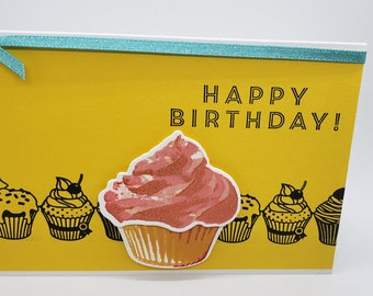 Cupcake birthday card - Happy Birthday Card - Celebration - Greeting Birthday Card- Stampin Up -