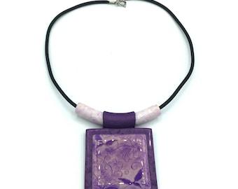 Fairy Garden Polymer Clay Necklace