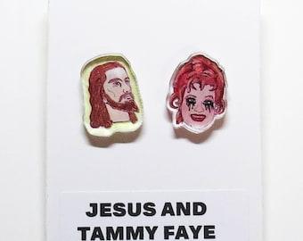 Jesus & Tammy Faye Acrylic Earrings