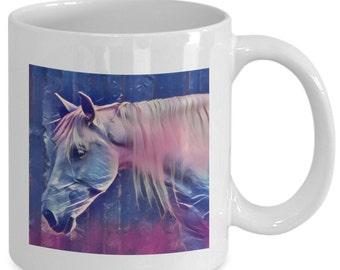 FANTASY HORSE - Coffee Mug - Horse Lovers - Equestrian Gift - 11 oz white coffee tea cup