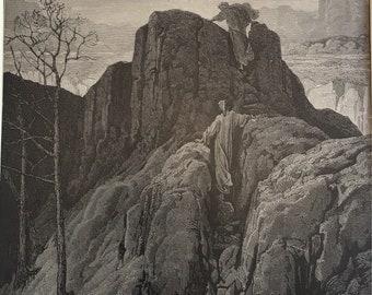 Dante Alighieri Purgatory and Paradise print etching