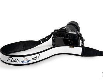 Fins up! Parrothead camera strap