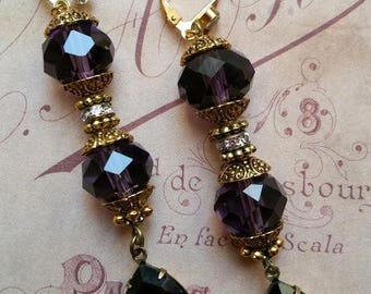 Amethyst crystal baroco earrings