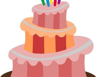 Topsy Turvy Cake SVG cut files