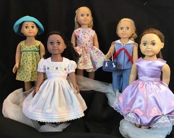 """8 Piece Doll Wardrobe for 18"""" Doll"""