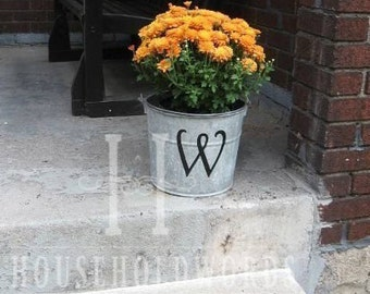"""Monogram Letter Decal, Name Decal, 12"""" tall Letter, Custom Wedding Initial Vinyl Decals, Unique Gifts, Front Porch Decor"""