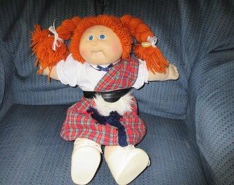 Vintage  Rare Red Headed Cabbage Patch Doll 1985