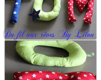 Name Garland of three letters - mario Theme - reserved