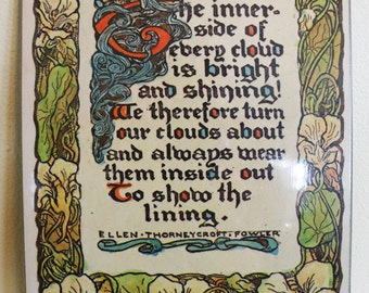 70s Art Plaque Illustrated Poetry // NOS Masonite Poem Hippie Decor // Multiples Available