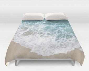 Duvet cover ocean etsy tides in duvet cover doublefull queen king ocean sea water sand beach tropical cover blanket bedding bed home and living gumiabroncs Choice Image