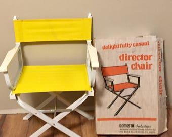 1***SALE***Mid Century Modern Directors Chair In Box