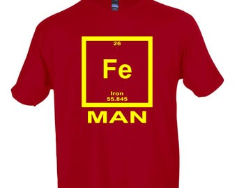 Iron Man Periodic Table Funny T-Shirt