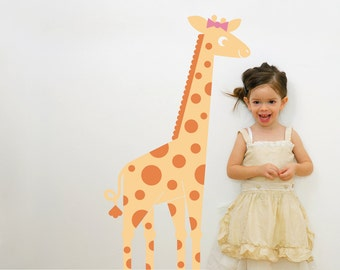 Giraffe Wall Decal Safari Theme Jungle Zoo Animal Baby Nursery Kids Room Decor