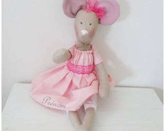 Plush mouse doll pattern customizable Tilda mouse