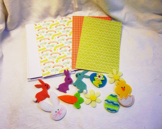 Easter Fun Card Making Kit For Children, Easter Cards, Children's Activity, 3 Cards in Kit, Any Age, Adult Supervision Required,
