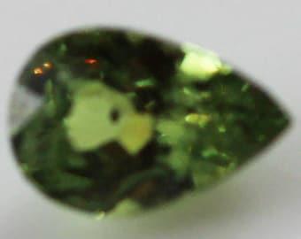 Demantoid Garnet 0.485mm Pear Shape 5.70 x 3.80mm Namibia ps0038 Green Pear Cut Faceted Gemstone Jewelry Making Semi Precious Gemstone