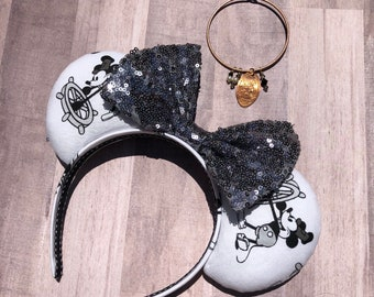 READY TO SHIP -- steamboat willie mouse ears