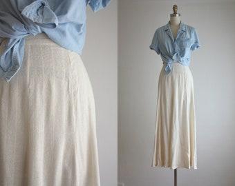 woven silk maxi skirt