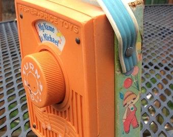 Vintage Fisher Price Music Box Pocket Radio - 1974