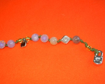 beaded bracelet knotted bracelet