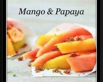 Mango & Papaya Soy Wax Melts - Hand poured