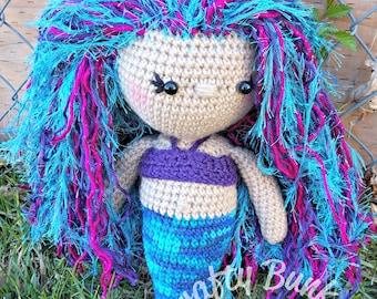 Friendly Mermaid crochet doll